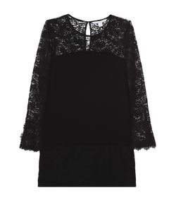 Diane Von Furstenberg   Мини-Платье Платье С Кружевной Отделкой