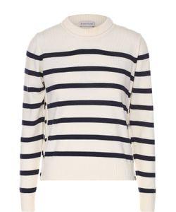 Moncler | Шерстяной Пуловер В Полоску С Круглым Вырезом