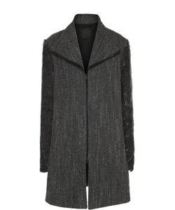 Lost&Found | Шерстяное Пальто Прямого Кроя На Молнии