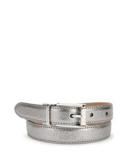 Dolce & Gabbana | Ремень Из Металлизированной Кожи