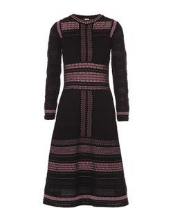 Missoni | Приталенное Платье С Длинным Рукавом И Контрастной Отделкой M