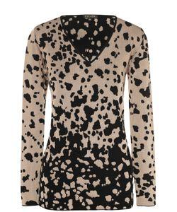 Escada | Пуловер С V-Образным Вырезом И Контрастным Принтом