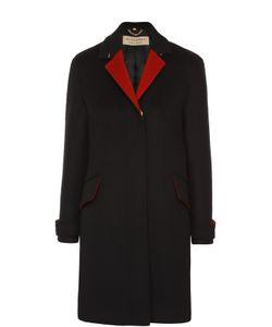 Burberry | Шерстяное Пальто Прямого Кроя С Контрастными Лацканами