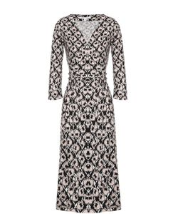 Diane Von Furstenberg | Шелковое Платье С Запахом И Поясом
