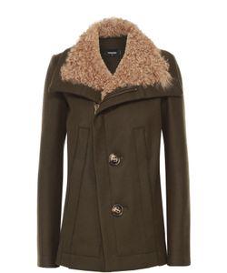 Dsquared2 | Шерстяная Куртка С Отделкой Из Меха Овчины