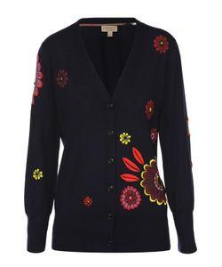 Burberry Brit | Кардиган С Контрастной Цветочной Вышивкой И V-Образным Вырезом