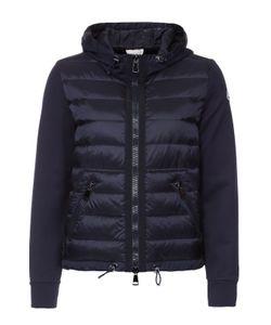 Moncler | Куртка Асимметричного Кроя С Пуховой Вставкой И Капюшоном