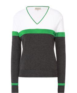 Emilio Pucci | Пуловер Прямого Кроя С V-Образным Вырезом И Контрастной Отделкой
