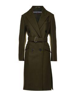 Rochas | Двубортное Шерстяное Пальто С Поясом