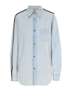 No. 21 | Джинсовая Блуза С Накладным Карманом И Декоративной Отделкой