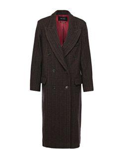 Isabel Marant | Удлиненное Двубортное Пальто С Широкими Лацканами