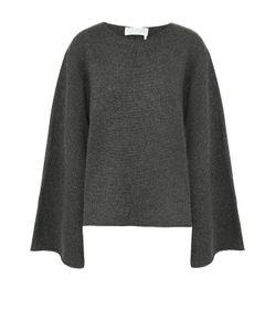 Chloe | Кашемировый Пуловер С Круглым Вырезом И Расклешенными Рукавами Chloé