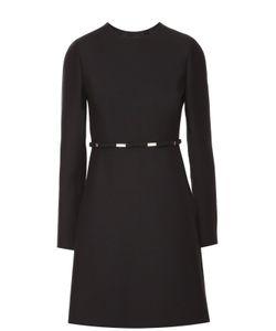 Valentino | Приталенное Мини-Платье С Завышенной Талией И Круглым Вырезом