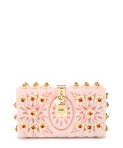 Dolce & Gabbana | Клатч Dolce Box С Отделкой Кристаллами И Резьбой
