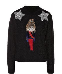 Dolce & Gabbana | Пуловер Фактурной Вязки С Яркой Вышивкой