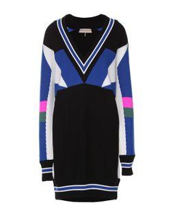 Emilio Pucci | Шерстяное Платье С V-Образным Вырезом И Ярким Принтом