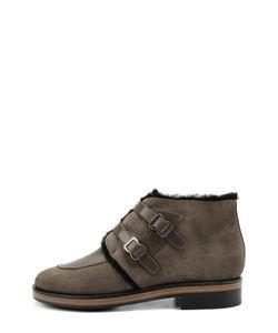 Giorgio Armani | Замшевые Ботинки С Ремешками Из Кожи