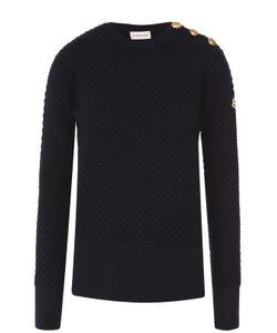 Moncler | Удлиненный Пуловер С Разрезами И Декоративной Отделкой