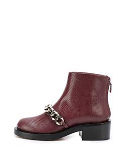 Givenchy | Кожаные Ботинки С Металлической Цепью