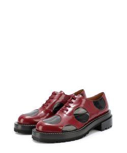 Marni | Кожаные Ботинки С Цветными Вставками