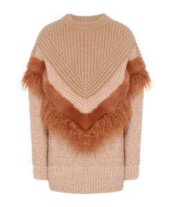 Stella Mccartney | Удлиненный Пуловер Фактурной Вязки С Декоративной Отделкой
