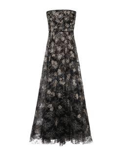 Oscar de la Renta | Приталенное Платье-Бюстье С Декоративной Вышивкой