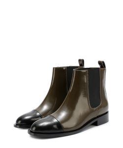 Marni | Кожаные Ботинки С Контрастным Мысом