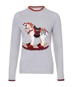 Tak.ori | Пуловер Прямого Кроя С Контрастными Принтом И Отделкой