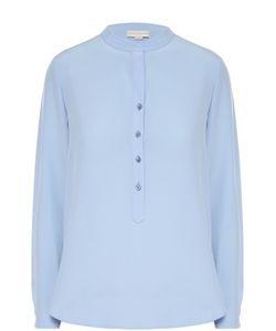 Stella Mccartney | Прямая Шелковая Блуза С Воротником-Стойкой