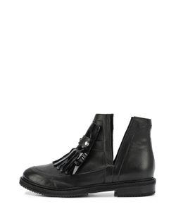 Aperlai | Кожаные Ботинки С Бахромой И Заклепками