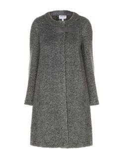 Armani Collezioni | Шерстяное Пальто Прямого Кроя С Круглым Вырезом