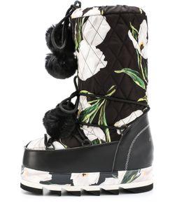 Dolce & Gabbana | Сапоги-Луноходы Cortina С Принтом И Помпонами