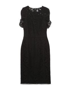 Escada | Приталенное Кружевное Платье Без Рукавов