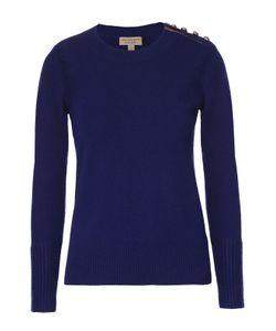 Burberry | Кашемировый Пуловер С Круглым Вырезом И Декоративной Отделкой