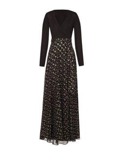 Diane Von Furstenberg   Приталенное Платье В Пол С V-Образным Вырезом