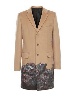 Givenchy | Однобортное Пальто Из Смеси Шерсти И Кашемира С Принтом