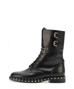 Valentino | Кожаные Ботинки Soulstud С Двумя Ремешками