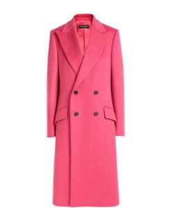 Dolce & Gabbana | Двубортное Пальто Прямого Кроя С Широкими Лацканами