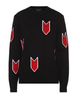 Rag & Bone | Шерстяной Пуловер Свободного Кроя С Контрастным Принтом Ragbone