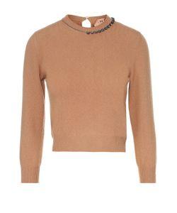 No. 21 | Укороченный Шерстяной Пуловер С Декоративной Отделкой