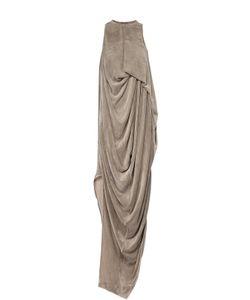 Rick Owens   Бархатное Платье Асимметричного Кроя С Драпировкой