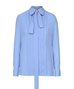 Michael Kors | Шелковая Блуза С Планкой И Воротником-Аскот