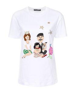 Dolce & Gabbana | Хлопковая Футболка С Контрастной Отделкой