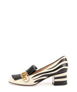 Gucci | Кожаные Туфли Marmont С Рисунком Под Зебру