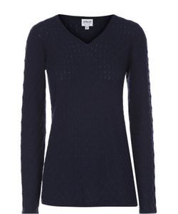 Armani Collezioni | Кашемировый Пуловер Фактурной Вязки С V-Образным Вырезом