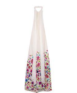 Oscar de la Renta | Платье Свободного Кроя С Открытой Спиной И Контрастным Принтом Oscar De