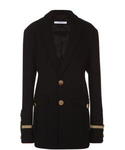 Givenchy | Жакет С Контрастной Отделкой И Накладными Карманами