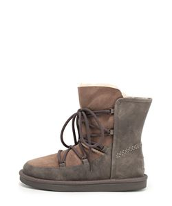 UGG Australia | Комбинированные Ботинки На Шнуровке