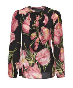 Dolce & Gabbana | Шелковая Блуза Прямого Кроя С Цветочным Принтом