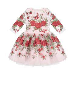David Charles | Платье С Длинным Рукавом И Цветочной Вышивкой